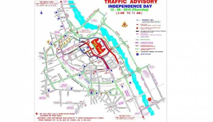 दिल्ली: 15 अगस्त को घर से निकलने से पहले देख लें ट्रैफिक एडवाइजरी, वर्ना हो सकती है दिक्कत