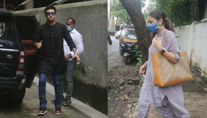 Alia Bhatt and Ranbir Kapoor arrive at Sanjay Leela Bhansali's office, SEE PHOTOS