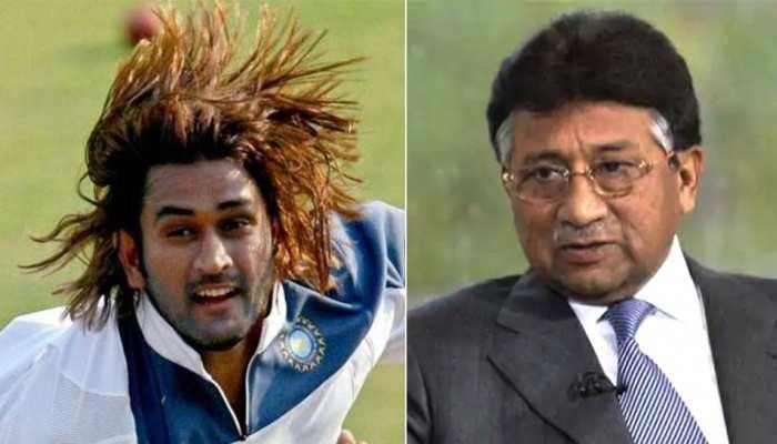 पाकिस्तान के साबिक प्रेज़िडेंट परवेज़ मुशर्रफ ने धोनी के बालों के लेकर कही थी यह बात