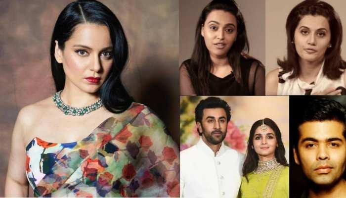 7 disputed statements of Kangana Ranaut on bollywood celebs