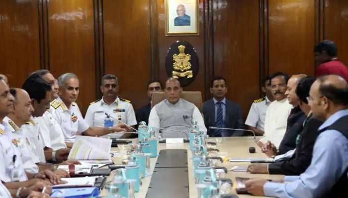 नौसेना का तीन दिवसीय कमांडर्स सम्मेलन बुधवार से शुरू, रक्षा मंत्री राजनाथ सिंह करेंगे उद्घाटन