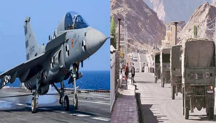 चीन से लगी सीमा पर तनाव के बीच भारत ने तैनात किया लड़ाकू विमान तेजस