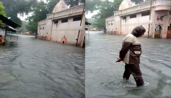 इंदौर: लगातार हो रही बारिश से जनजीवन अस्त-व्यस्त, शहर के कई हिस्सों में भरा पानी