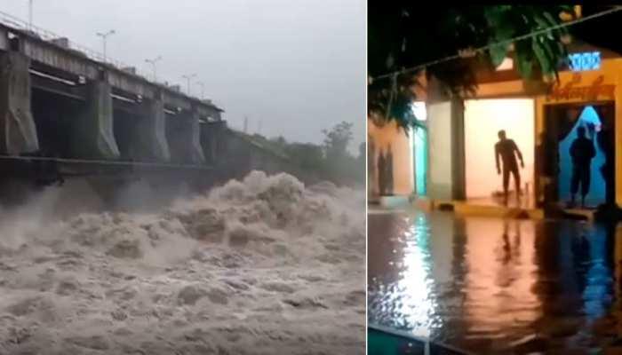 मध्य प्रदेश में बारिश का तांडव, खोले गए गेट, कहीं जलमग्न हुईं सड़कें तो कहीं पूरी बस्ती डूबी