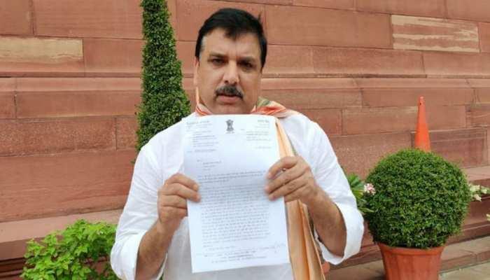 UP में दर्ज हुईं 8 FIR पर AAP नेता संजय सिंह ने उप राष्ट्रपति को पत्र लिखकर की शिकायत