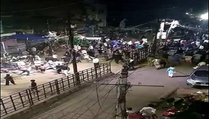 कानपुर: दो पक्षों के विवाद में जमकर चले पत्थर, रात भर फ्लैग मार्च के बाद पुलिस CCTV से पहुंचेगी बवालियों तक
