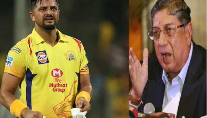 IPL 2020: CSK में सुरेश रैना के भविष्य को लेकर एन श्रीनिवासन ने कही ये बड़ी बात