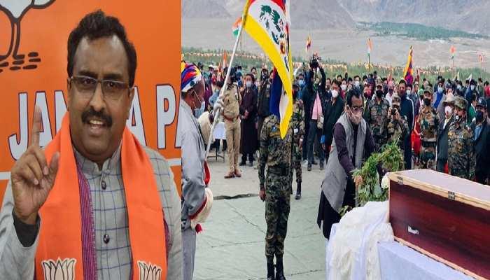 लद्दाख: भारत की रक्षा में तिब्बती जवान को मिली वीरगति, सम्मान के साथ अंतिम संस्कार