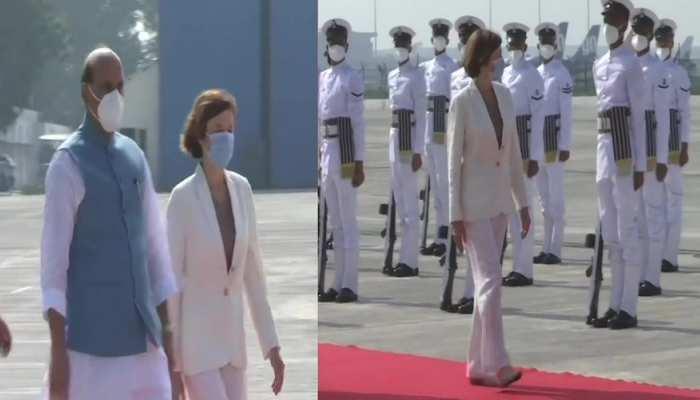 दिल्ली पहुंचीं फ्रांस की रक्षा मंत्री, राफेल आज वायुसेना में होगा शामिल