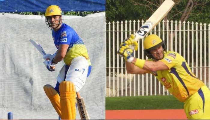 IPL 2020: धोनी और वॉटसन ने नेट्स पर की चौके-छक्कों की बारिश, देखें वीडियो