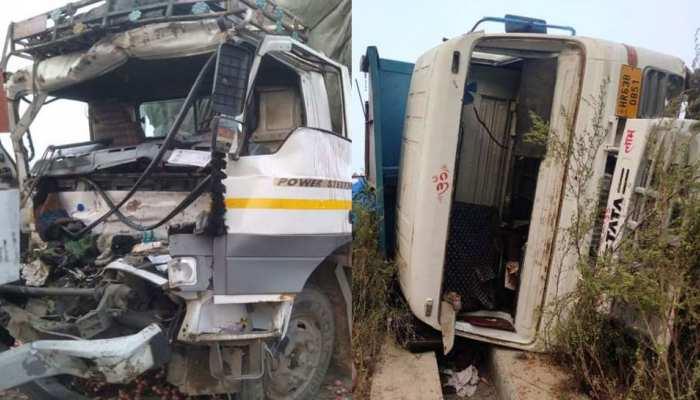 ईस्टर्न पेरिफेरल एक्सप्रेस-वे पर हादसा, दो ट्रकों की भिड़ंत में ड्राइवर की दर्दनाक मौत, 2 घायल