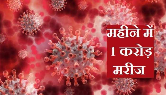 Corona Virus का संक्रमण दुनिया में चरम पर, महीने भर में 1 करोड़ मरीज हुए