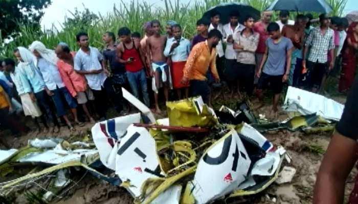 आज़मगढ़ में हेलीकॉप्टर क्रैश, मलबे से 2KM दूर मिली पायलट की लाश