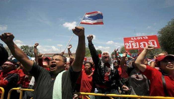 थाईलैंड के लोकतंत्र के संघर्ष की प्रतीक पटि्टका को 24 घंटे के भीतर हटाया गया