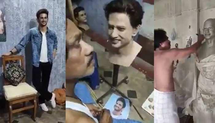 इस कलाकार ने बनाई सुशांत की जीवंत मूर्ति, VIDEO देख नम हो जाएंगी आंखें