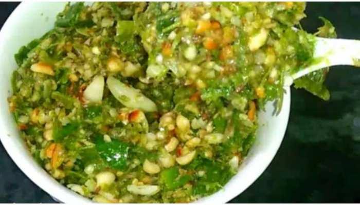 महाराष्ट्रियन हरी मिर्च का ठेचा, बनाने में बेहद आसान और स्वाद में एकदम चटपटा