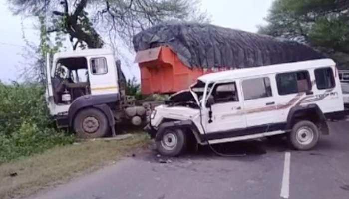 MP: मज़दूरों से भरी तूफान गाड़ी ट्राले से टकराई, 4 लोगों की हुई मौत, 8 ज़ख्मी
