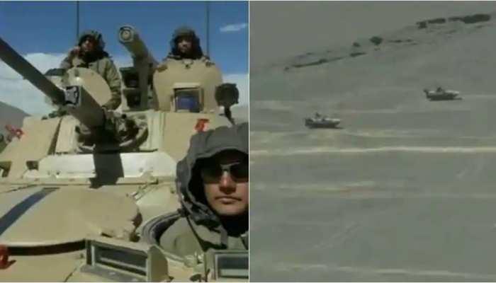 चीन से तनातनी के बीच LAC पर इंडियन आर्मी ने तैनात किए T-90 टैंक और बख्तरबंद वाहन, देखें वीडियो