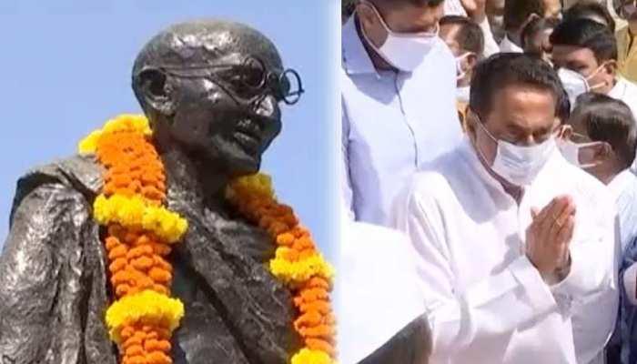 पूर्व मुख्यमंत्री कमलनाथ ने महात्मा गांधी को दी श्रद्धांजलि, भाजपा पर साधा निशाना