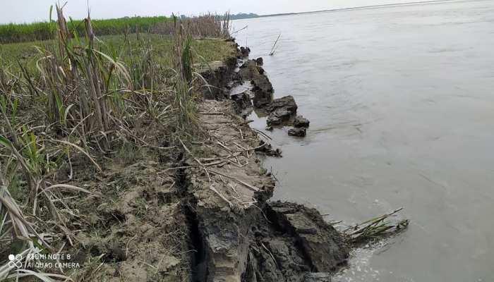 बिहार: गंडक नदी किनारे भीषण कटाव जारी, किसानों के सामने खड़ी हुई यह समस्या...