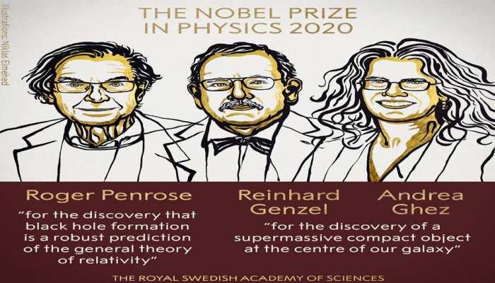 फिजिक्स नोबेल प्राइज 2020: रोजर पेनरोज, रीनहार्ड गेंजेल और एंड्रिया घेज को मिला अवार्ड
