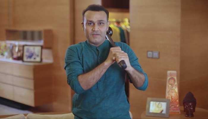 आज वीरेंद्र सहवाग बने सनी देओल, पंजाब टीम की जमकर लगाई क्लास, देखें वीडियो