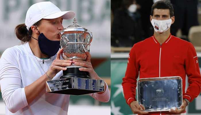 टेनिस रैंकिंग: हार के बावजूद जोकोविच टॉप पर बरकरार, चैंपियन इगा स्वियाटेक को फायदा