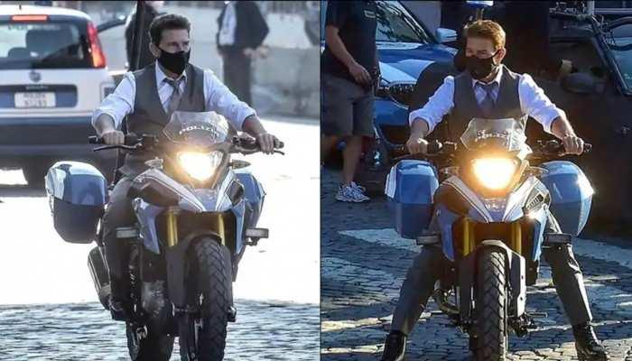 मेड इन इंडिया बाइक चलाते नजर आए टॉम क्रूज, रोम में हो रही है MI-7 की शूटिंग