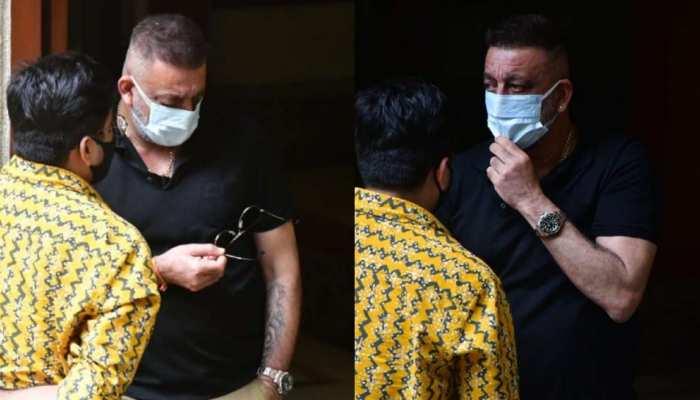 कैंसर इलाज के बीच नए हेयरस्टाइल में स्पॉट हुए Sanjay Dutt, मस्ती के मूड में नजर आए एक्टर