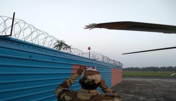 बाल-बाल बचे रविशंकर प्रसाद और बिहार सरकार के दो मंत्री, हेलीकॉप्टर के सभी विंग टूटे