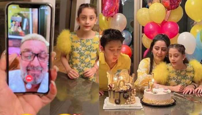 Sanjay Dutt celebrates children's birthday on video call