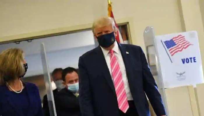 अमेरिका चुनाव: राष्ट्रपति ट्रंप ने फ्लोरिडा में किया मतदान, इस अंदाज में बताया किसे दिया है वोट