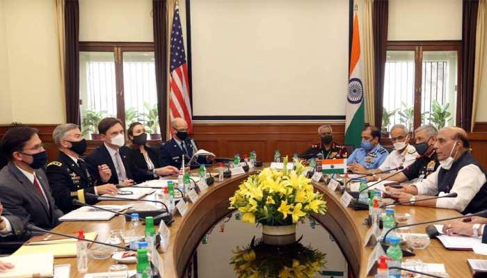 2+2 वार्ता: भारत-अमेरिका के बीच हुए 5 समझौते, रक्षा मंत्री राजनाथ सिंह ने दी जानकारी