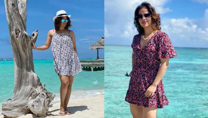 Badminton Star Saina Nehwal Shares photos of Maldives Holidays With her Husband Parupalli Kashyap