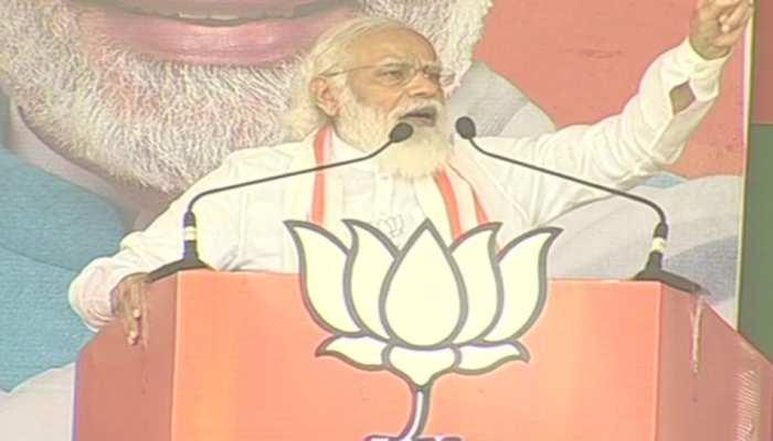 बिहार चुनाव: फारबिसगंज में गरजे PM, बोले- राज्य ने डबल युवराज और जंगलराज को नकारा