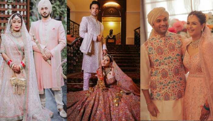 karwa chauth celebration of newly wedded actress