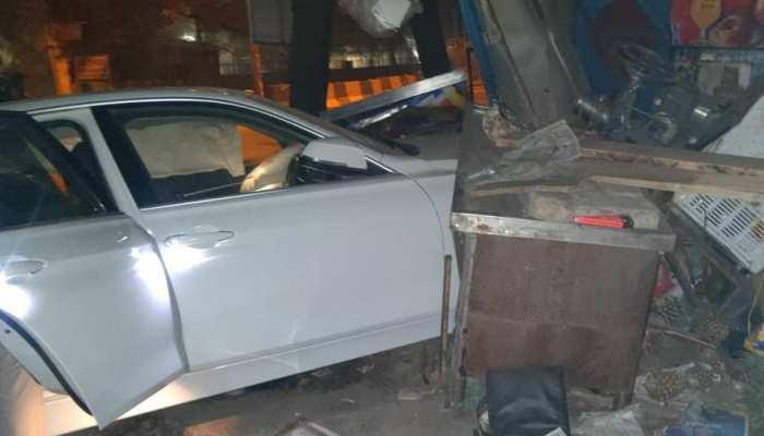 शराब के नशे में चूर रईसजादों ने पुलिस पर चढ़ा दी कार