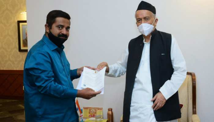 BJP विधायक ने की राज्यपाल से मुलाकात, अर्नब गोस्वामी से मारपीट मामले में की ये मांग