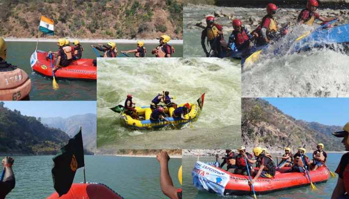 Uttarakhand River rafting & cycling expedition 'Shaurya'  ITBP Auli is underway see powerful images uppp