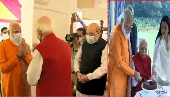 लालकृष्ण आडवाणी के घर जाकर PM मोदी ने दी जन्मदिन की बधाई
