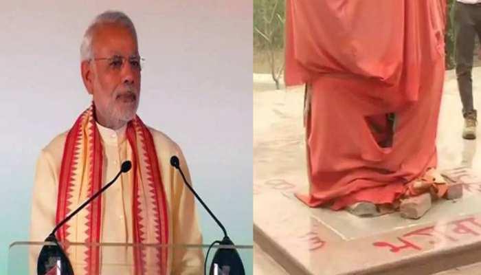 JNU में लगाई गई स्वामी विवेकानंद की प्रतिमा, पीएम नरेंद्र मोदी 12 नवंबर को करेंगे अनावरण