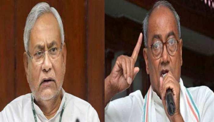 दिग्विजय की नीतीश को नसीहत, 'राष्ट्रीय राजनीती में आएं, भाजपा छोड़ तेजस्वी का साथ दें'