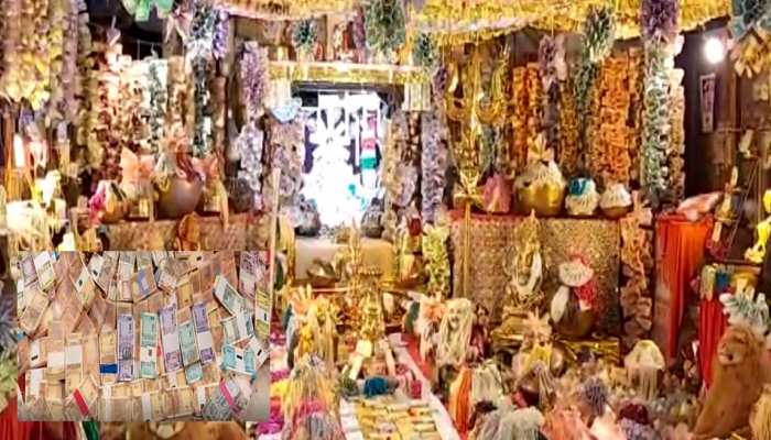 Temple in Ratlam decorated with cash money and notes of crore see photos mpas