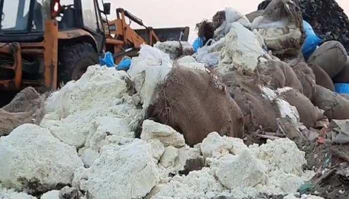 धौलपुर: 'शुद्ध के लिए युद्ध' के तहत कार्रवाई तेज, DM ने नष्ट कराया 200 क्विंटल मावा
