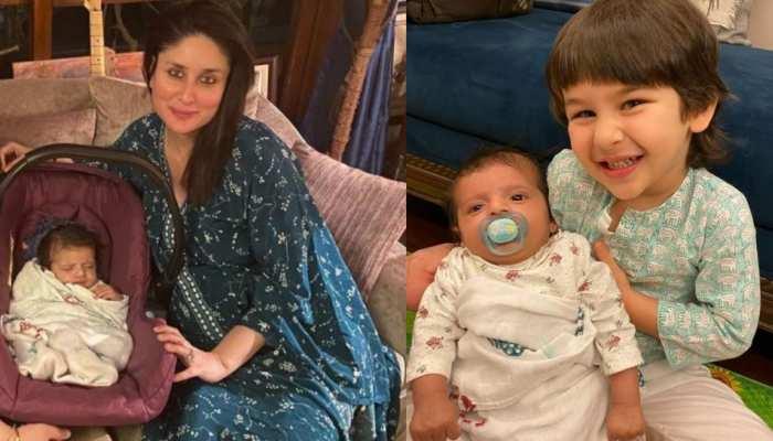 PHOTOS: करीना के घर आया नन्हा मेहमान, तैमूर ने किया बेबी को प्यार