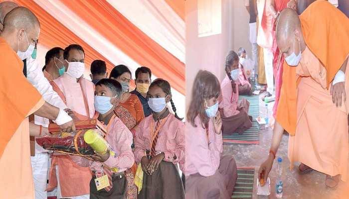 वनटांगिया गांव में योगी ने मनाई 14वीं दिवाली, CM से स्वेटर-बस्ते पाकर खिले बच्चों के चेहरे