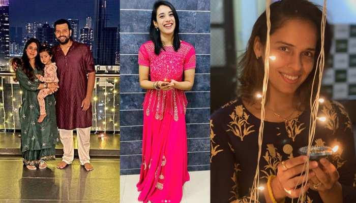 Rohit Sharma Sachin Tendulkar Saina Nehwal Smriti Mandhana celebrate Diwali 2020 in Picture