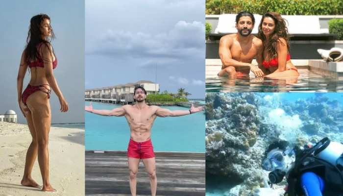 disha patni tiger shroff farhan akhtar and shibani dandekar celebrate diwali in maldives