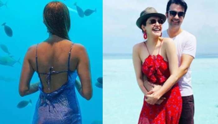 Kajal Aggarwal dives in sea with husband, photos go viral