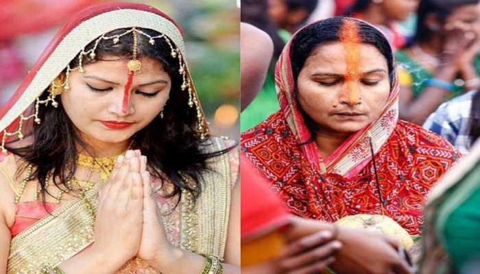 know the significance of why women apply sindoor in unique style during chhath puja